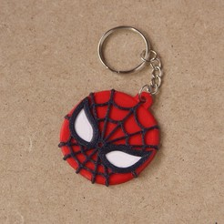 Download free STL files Keychain Multicolor Spiderman, dukedoks