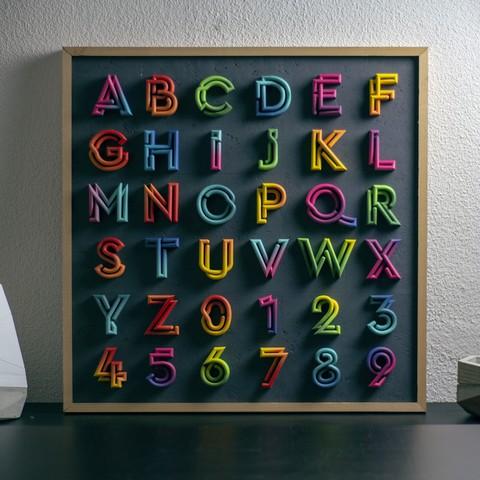 "IMG_6810.jpg Download free STL file Alphabet ""36 Days of Type"" • Template to 3D print, dukedoks"
