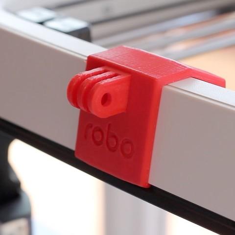 Download free STL Robo GoPro front mount, dukedoks