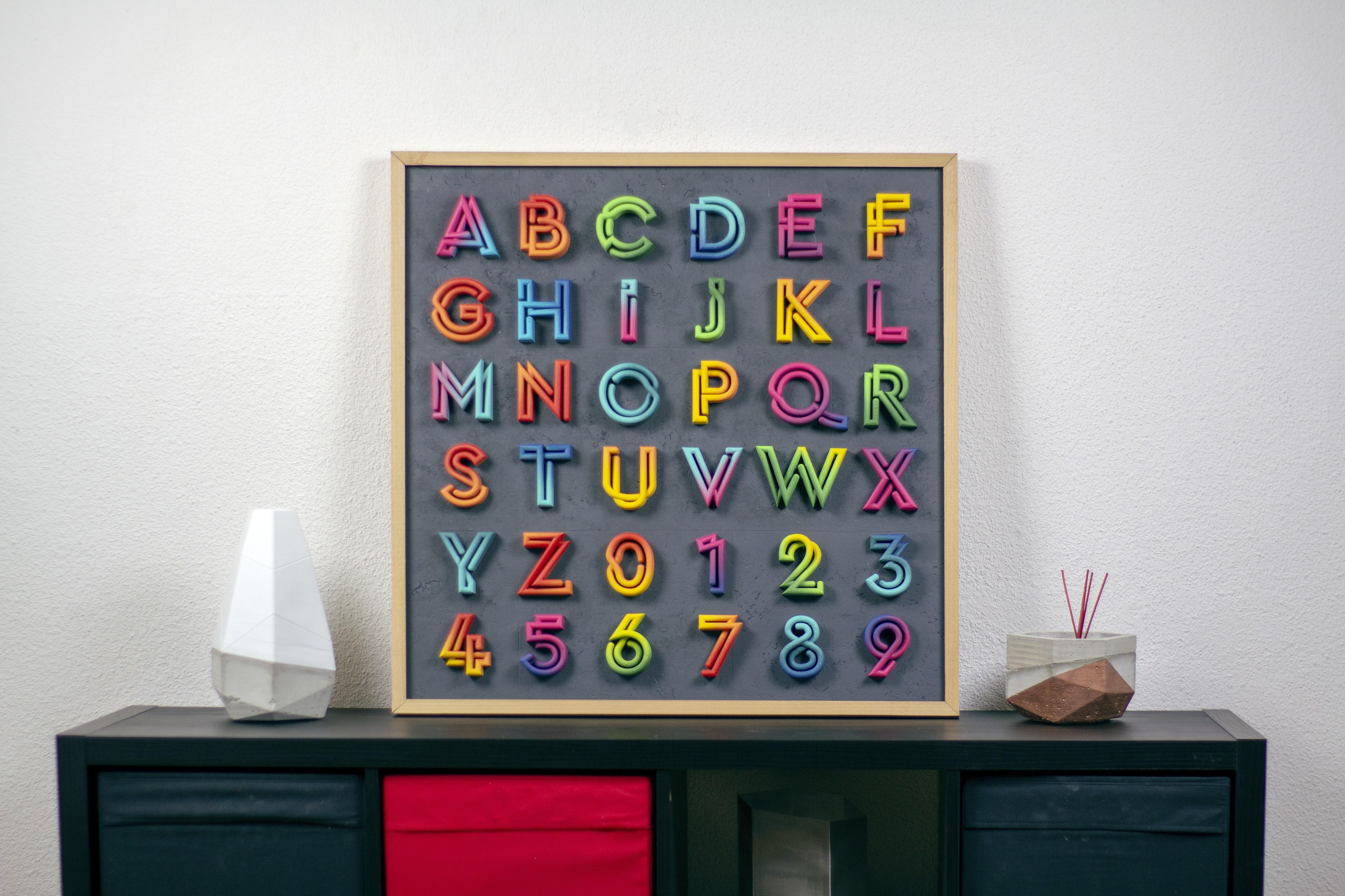 "IMG_6797.jpg Download free STL file Alphabet ""36 Days of Type"" • Template to 3D print, dukedoks"