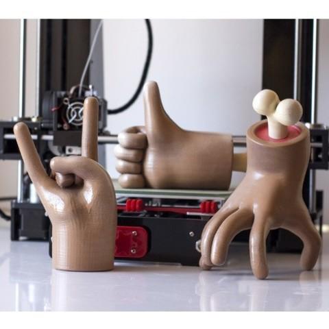 bcfc7e44f9a3716a833bf048b482ced1_preview_featured.jpg Télécharger fichier STL gratuit Cartoon Hand Rock • Modèle pour impression 3D, dukedoks