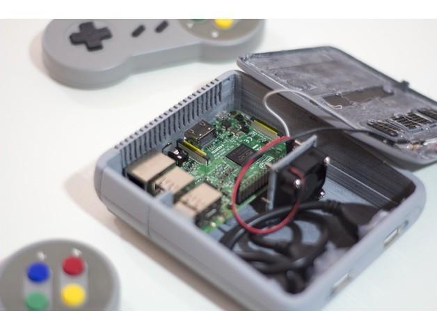 324ab50e3e61afa89750fbca90a3715e_preview_featured.jpg Télécharger fichier STL gratuit Snes Mini Raspberry Pi • Plan pour imprimante 3D, dukedoks
