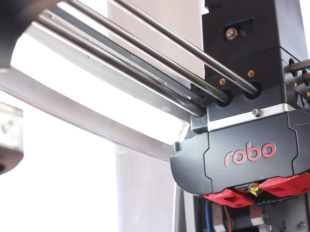 LEDs mount.jpg Télécharger fichier STL gratuit Ajout d'un éclairage à bande LED pour Robo R2 • Modèle à imprimer en 3D, dukedoks