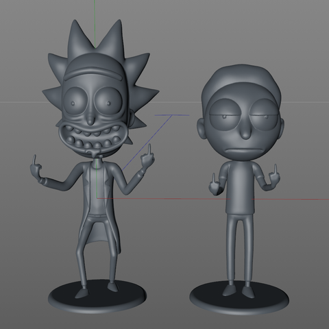 "Captura Rick y Morty.PNG Télécharger fichier STL gratuit Morty de ""Rick et Morty"" • Design pour imprimante 3D, dukedoks"