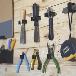 Tool_Wall_01.jpg Download free STL file Tool Hooks • 3D printing model, dukedoks