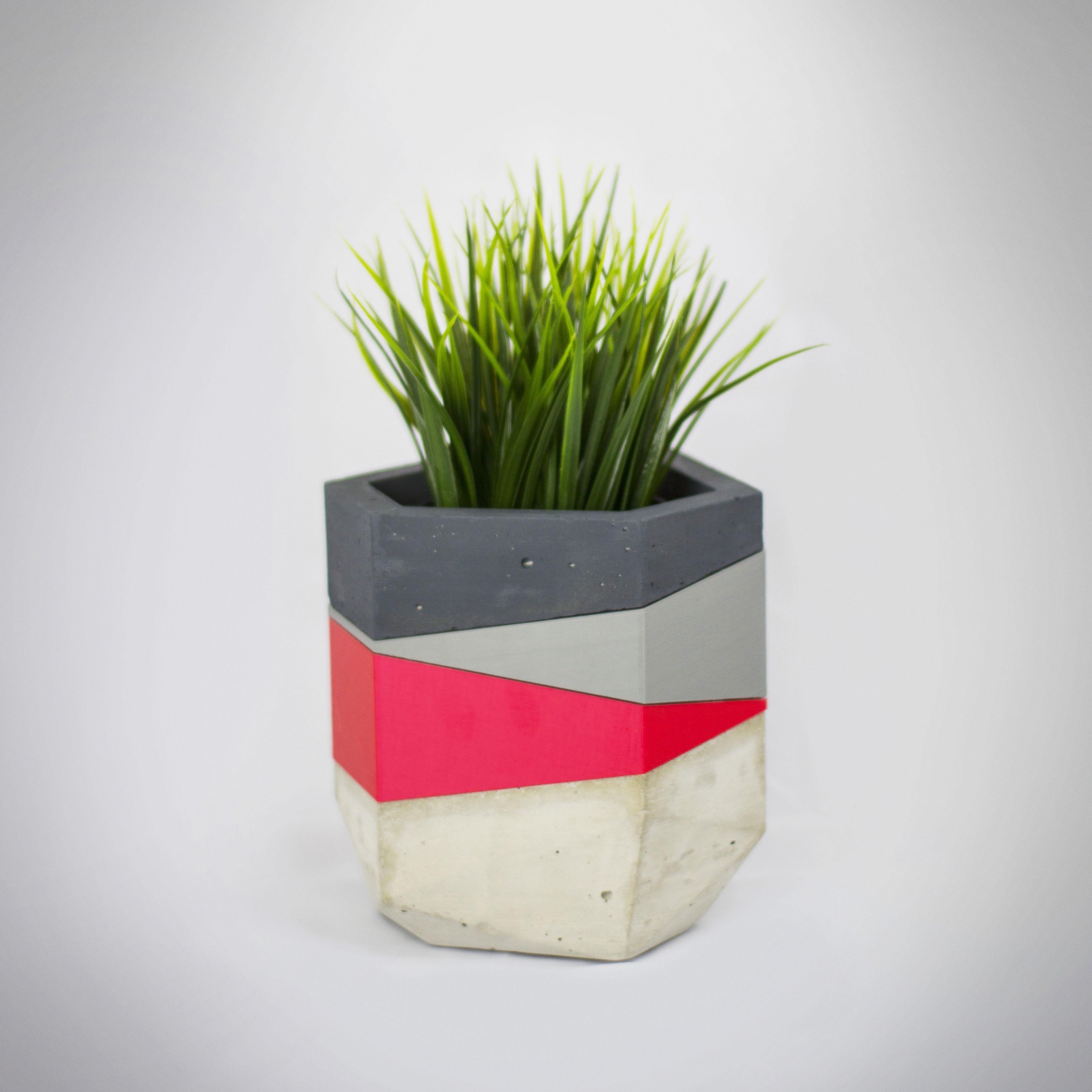 Macetero 2 insta.jpg Download free STL file Concrete Planters Mold • 3D print model, dukedoks