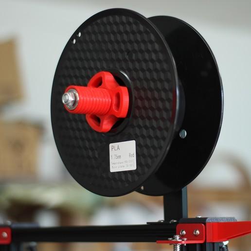 Soporte filamento 02.jpg Télécharger fichier STL gratuit Porte-filament Alfawise • Modèle à imprimer en 3D, dukedoks