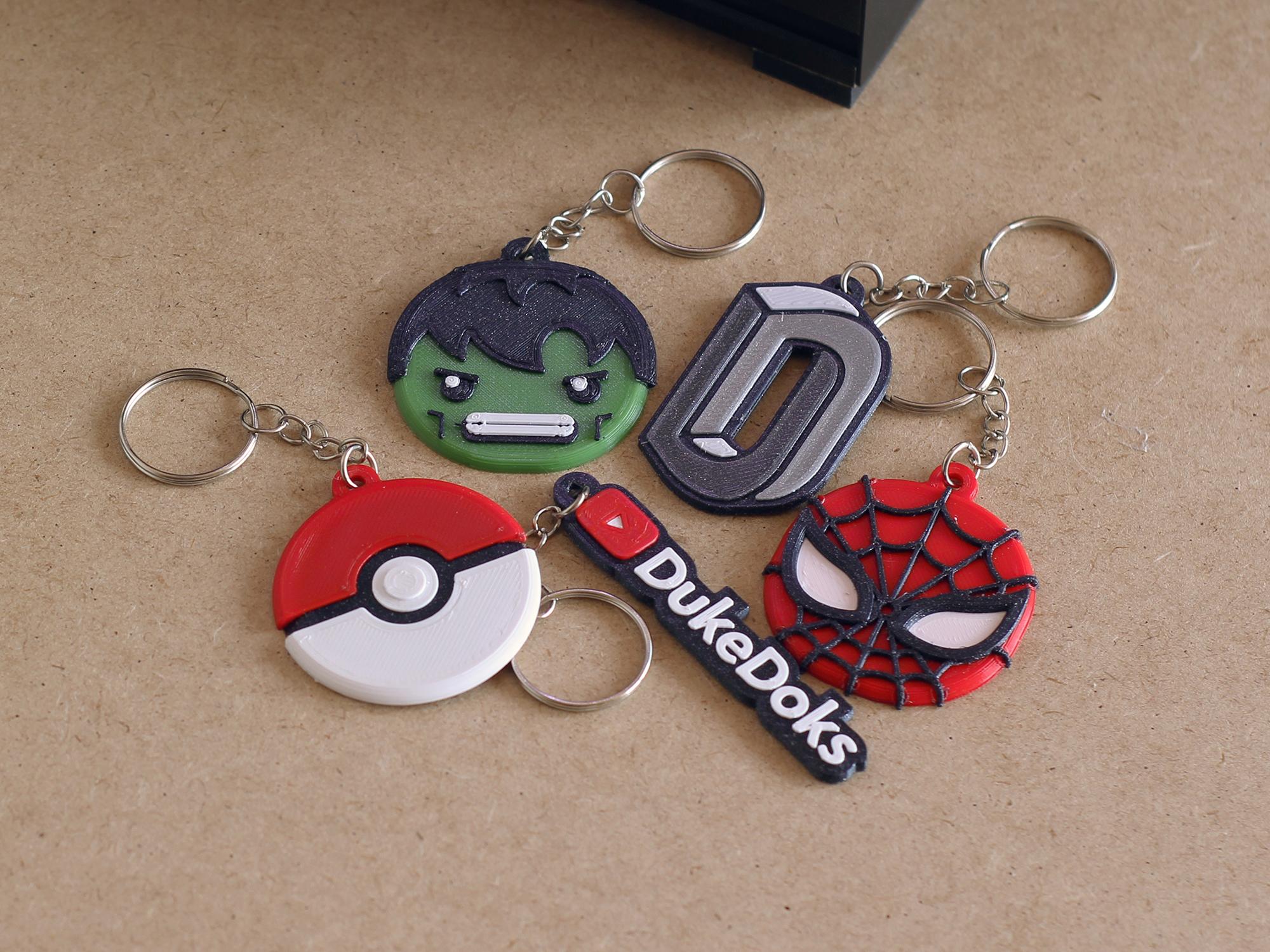 Miniaturas thingiverse 09.jpg Download free STL file Keychain Multicolor Pokemon • 3D printer template, dukedoks