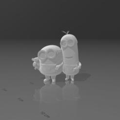 Screenshot (125).png Download OBJ file minions keychain • 3D printer model, LorenzoCatini