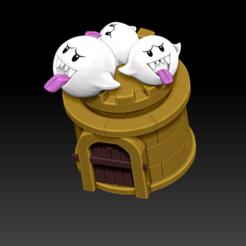Screenshot (136).png Download OBJ file super mario-boo piggy bank • 3D printing template, LorenzoCatini