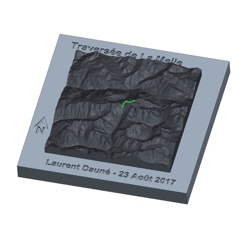 STL Cartography - Your hike in relief, MathieuM3D