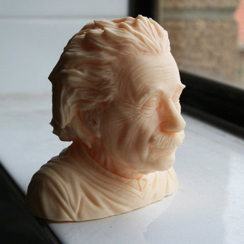 Download free 3D printer templates Albert Einstein bust, LSMiniatures