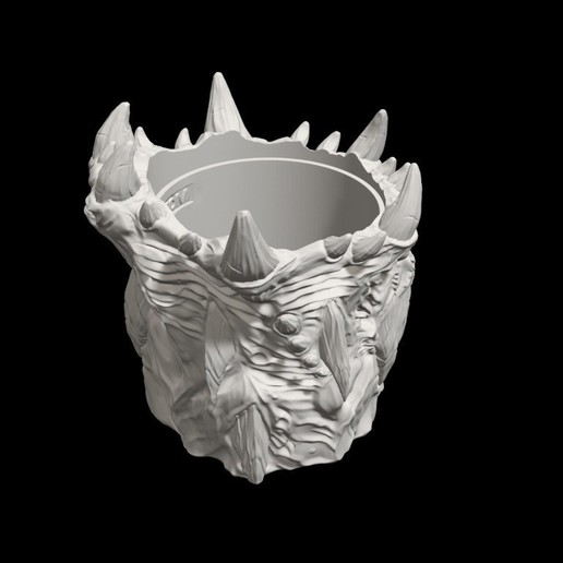 dicecup12.jpg Download free STL file War Of The Ravaged - Dice Cup/Shaker • 3D print design, LSMiniatures