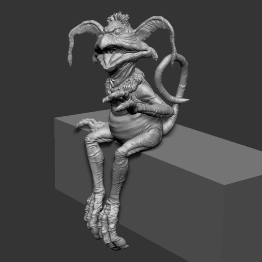 Salcrumb_sit01.jpg Download free STL file Salacious Crumb- from Return Of The Jedi. Kit version, seated. • 3D printing template, LSMiniatures