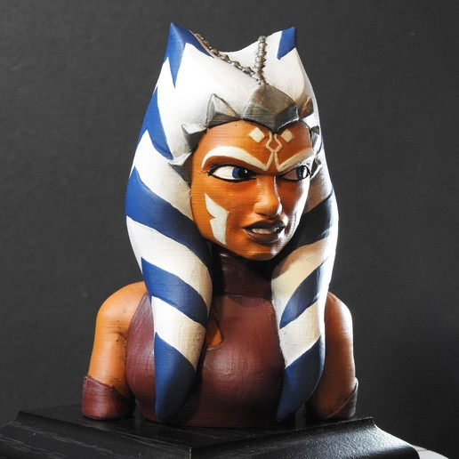 Download free 3D printer designs Ahsoka Tano Bust, LSMiniatures