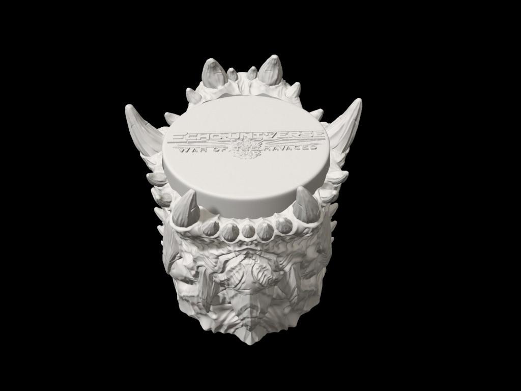 dicecup08.jpg Download free STL file War Of The Ravaged - Dice Cup/Shaker • 3D print design, LSMiniatures