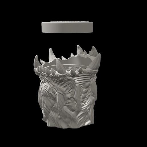 dicecup10.jpg Download free STL file War Of The Ravaged - Dice Cup/Shaker • 3D print design, LSMiniatures