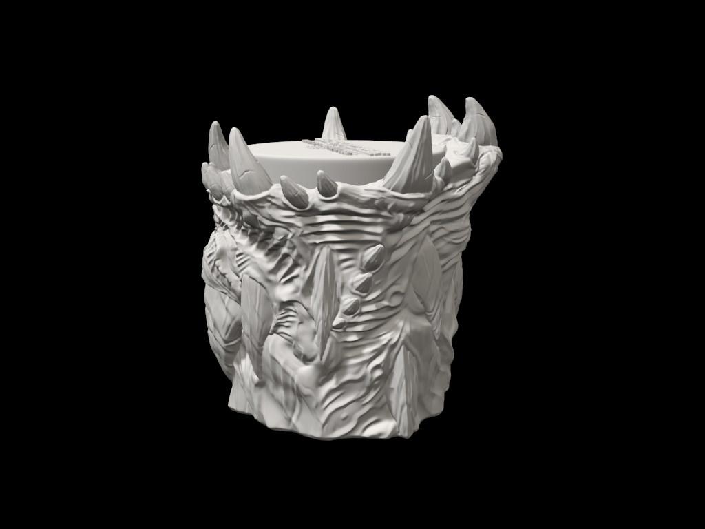 dicecup07.jpg Download free STL file War Of The Ravaged - Dice Cup/Shaker • 3D print design, LSMiniatures