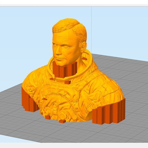 astronaut_11c.jpg Download free STL file Astronaut Bust • 3D printing design, LSMiniatures