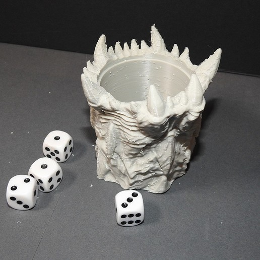 WOTR_dicecup_proto_04.jpg Download free STL file War Of The Ravaged - Dice Cup/Shaker • 3D print design, LSMiniatures