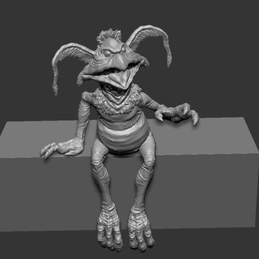 Salcrumb_sit03.jpg Download free STL file Salacious Crumb- from Return Of The Jedi. Kit version, seated. • 3D printing template, LSMiniatures