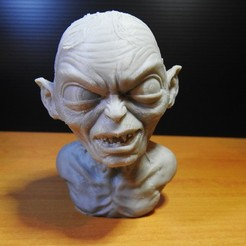 Golum_01.jpg Download free STL file Golum bust, from Lord Of The Rings • 3D print model, LSMiniatures
