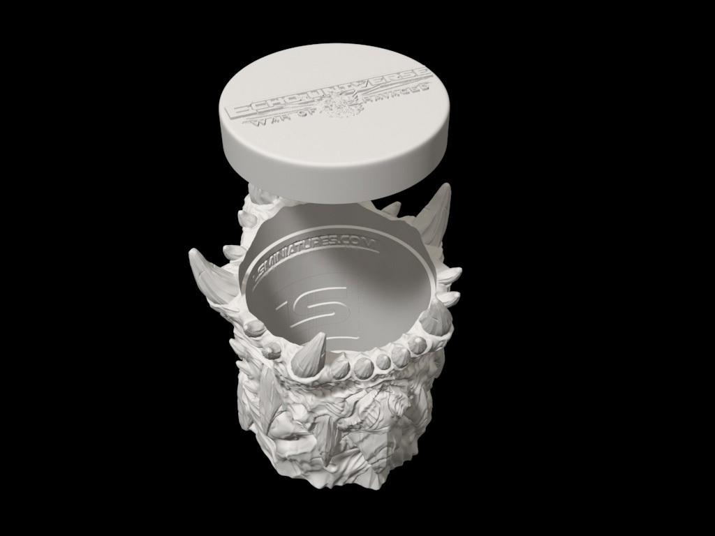 dicecup09.jpg Download free STL file War Of The Ravaged - Dice Cup/Shaker • 3D print design, LSMiniatures