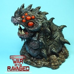 Free Ravager Worm-War Of The Ravaged 3D model, LSMiniatures