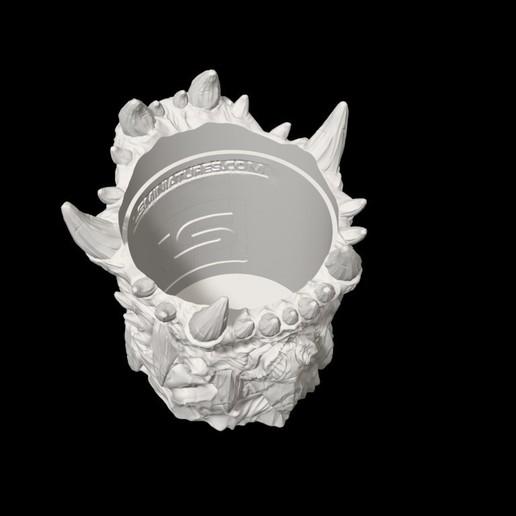 dicecup11.jpg Download free STL file War Of The Ravaged - Dice Cup/Shaker • 3D print design, LSMiniatures