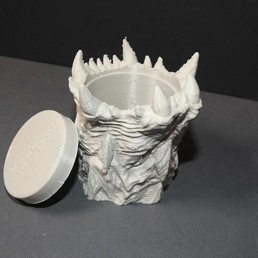 WOTR_dicecup_proto_03.jpg Download free STL file War Of The Ravaged - Dice Cup/Shaker • 3D print design, LSMiniatures
