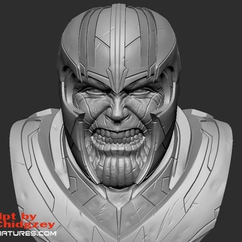 Download free 3D print files Thanos Bust-from Avengers Endgame, LSMiniatures