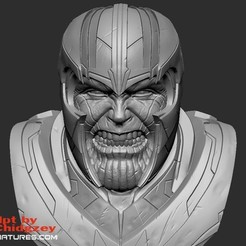 thanos_screencaps02cults.jpg Download free STL file Thanos Bust-from Avengers Endgame • 3D printable design, LSMiniatures