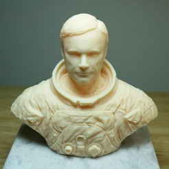 Free 3D printer designs Astronaut Bust, LSMiniatures