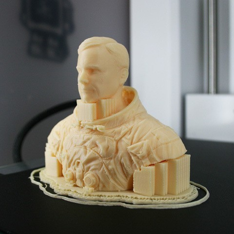 astronaut_09c.jpg Download free STL file Astronaut Bust • 3D printing design, LSMiniatures