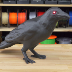 1.png Download free STL file Crow with LED eyes • 3D printing model, XTG