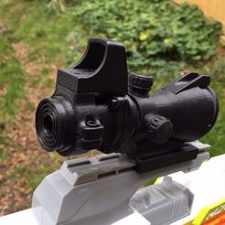 Télécharger fichier STL Pistolet Nerf Acog Sight, Easton3D