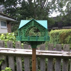 STL file Pagoda Bird House, Easton3D