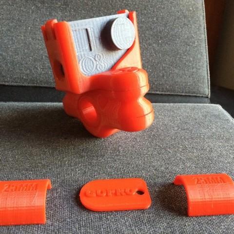 Download free STL file GoPro Bike / Bar Mount • Design to 3D print, Easton3D