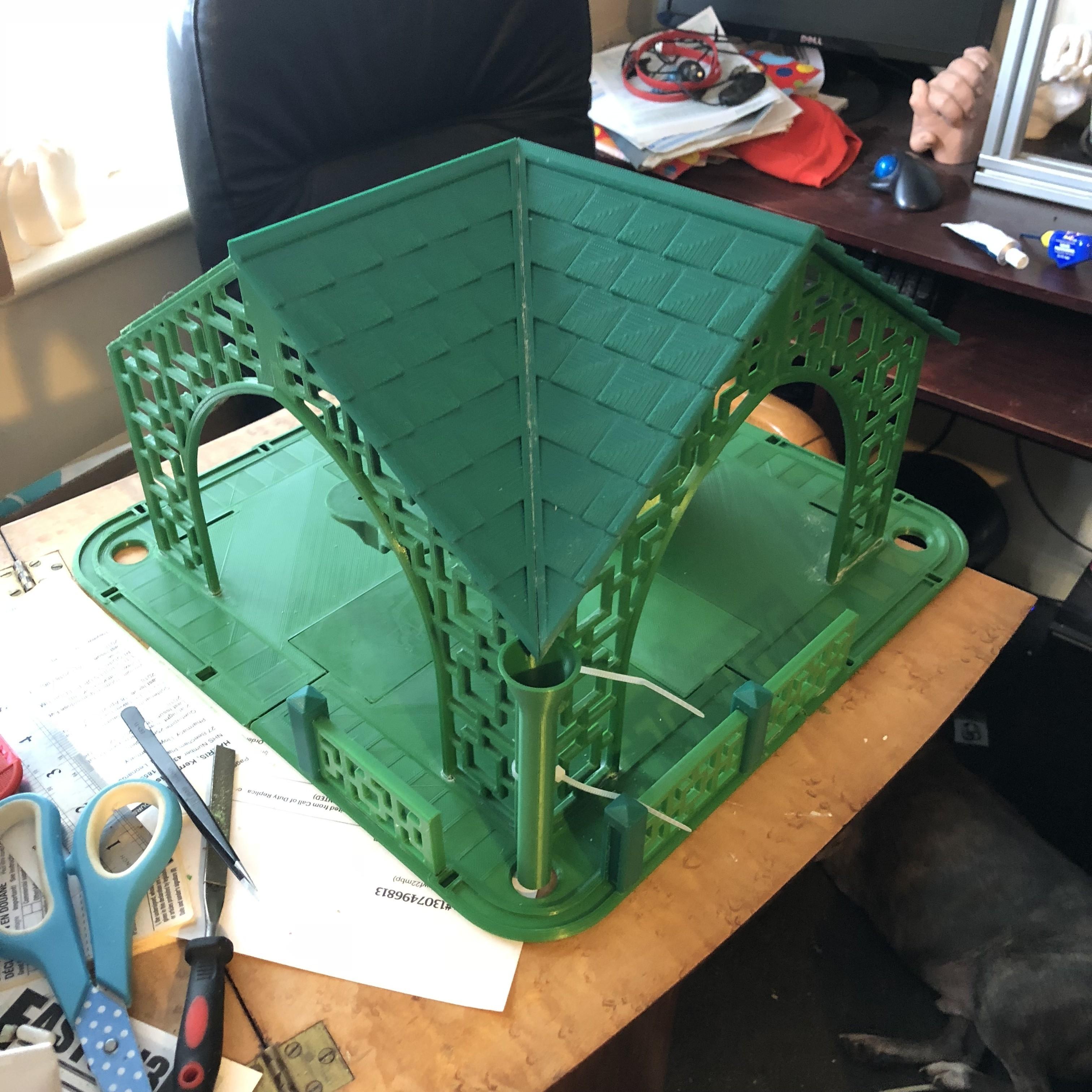 IMG_0134.jpg Download STL file Pagoda Bird House • 3D printable template, Easton3D