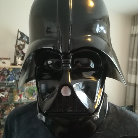 image relating to Darth Vader Printable called 3D printing Darth Vader - 3D Printable Explain Helmet ・ Cults