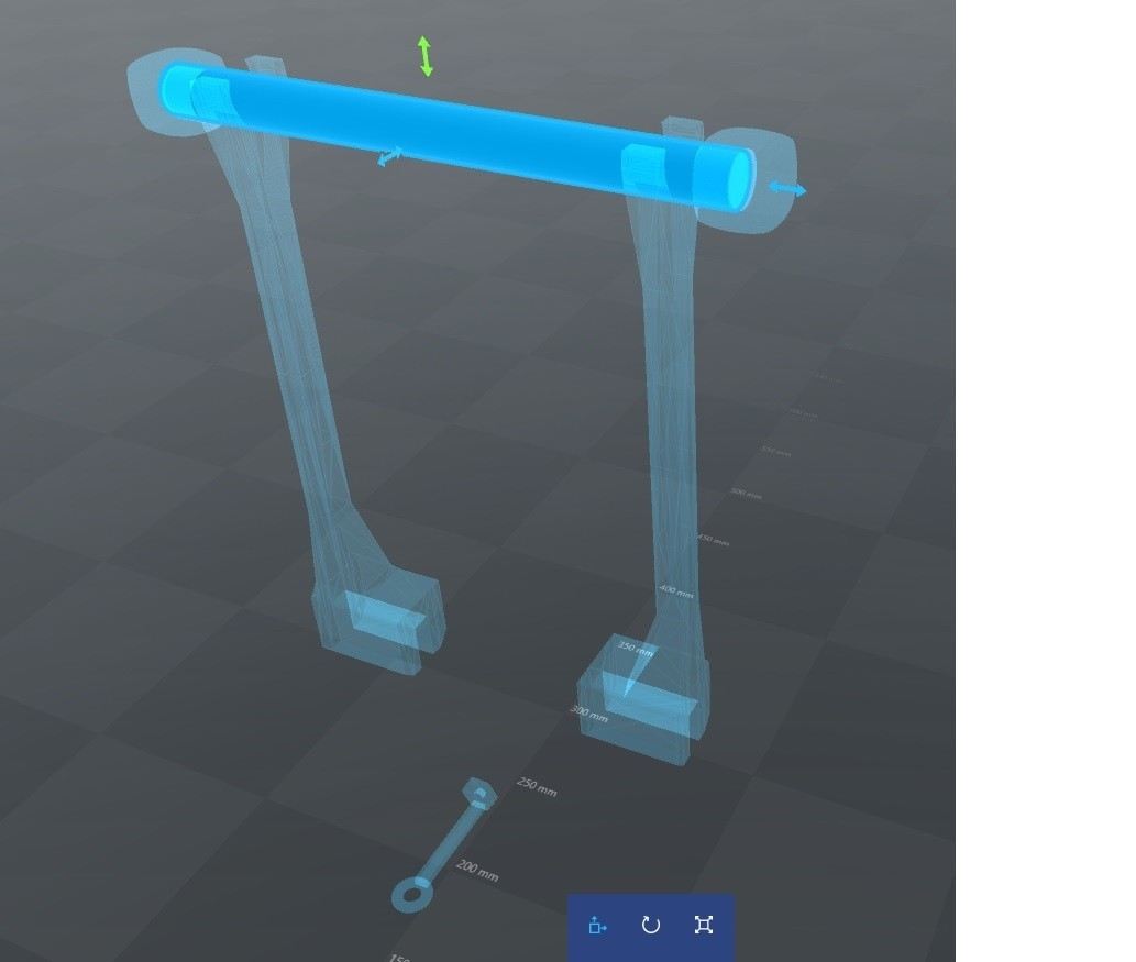 Esquema.jpg Download free STL file Support and Guide for 3 Filament Rolls Geeetech Pro B • 3D printing object, VooDoo228