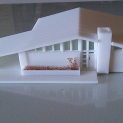 Mid Century House 1 - N-Scale (1:160) 3D printer file, tbgb