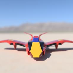 modelos 3d Jet Futurista, alishanmao