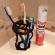 Download STL file Toothbrush and toothpaste holder • Template to 3D print, alishanmao