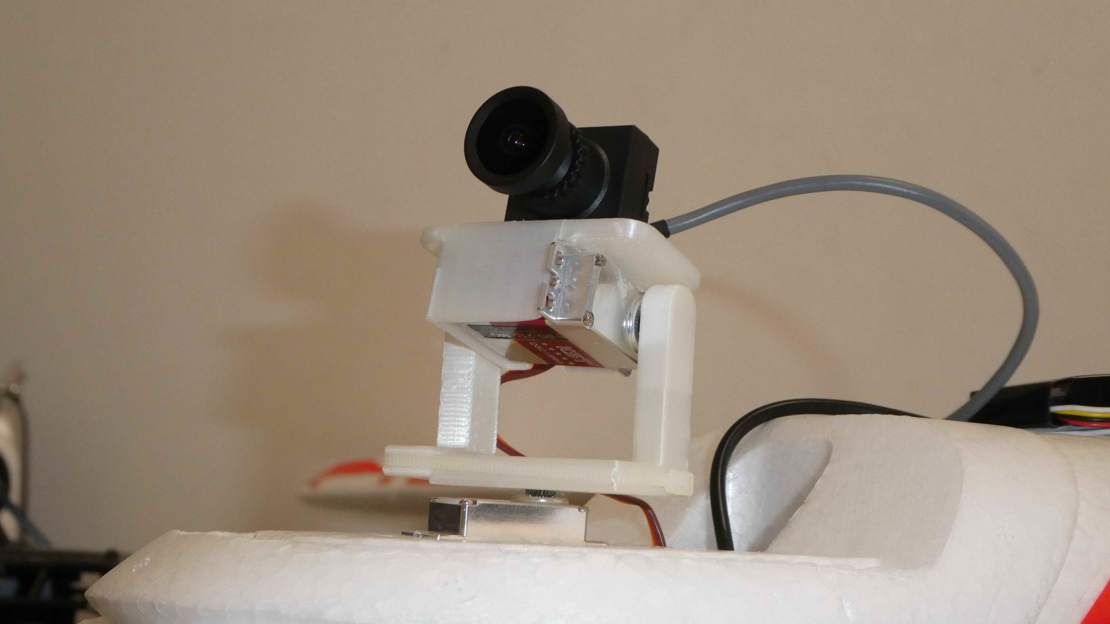 P1010027.jpg Download STL file FPV Pan Tilt Mount for FPV and HD Cameras • 3D printable template, alishanmao