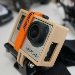 Download STL file Open GoPro HD Camera Mount, alishanmao