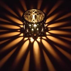 Archivo STL Tea Time Velas románticas sombra de luz, alishanmao