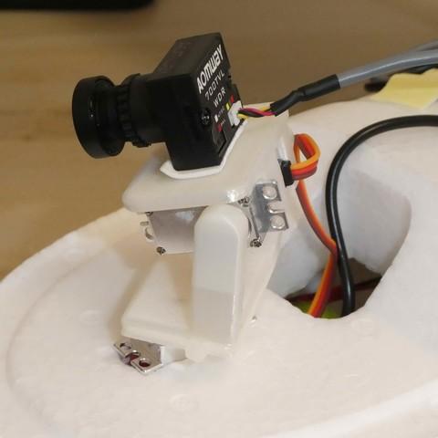 P1010028.jpg Download STL file FPV Pan Tilt Mount for FPV and HD Cameras • 3D printable template, alishanmao