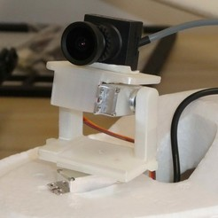 Télécharger fichier imprimante 3D FPV Pan Tilt Mount pour les caméras FPV et HD, alishanmao