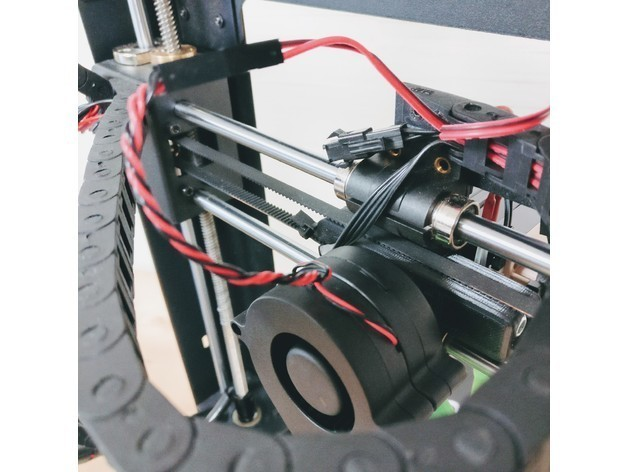 """4fa56fee0647ab2a606a265c40979e88_preview_featured.jpg Download free STL file The """"OptiCooler"""" part cooling solution for Wanhao Di3 • 3D printer model, printingotb"""